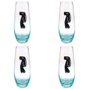 Other - Blue And Gold Toucan Champagne Flutes